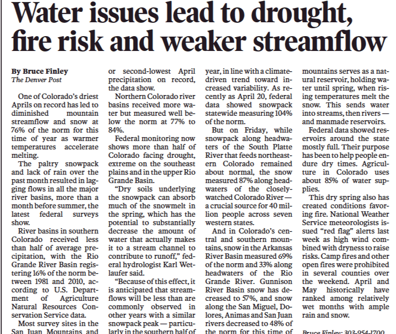 Water Issues Lead to Drought